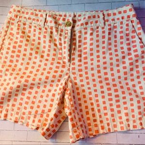 Loft Orange and Khaki Shorts Size 8